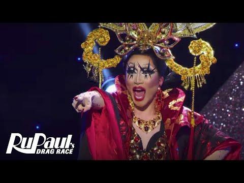 Lip Sync Eleganza Extravaganza Performance w/ S1 & S10 Queens 💃  RuPaul's Drag Race Season 10