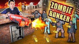 NERF ZOMBIE BUNKER DEFENSE! (Real Zombie Apocalypse)