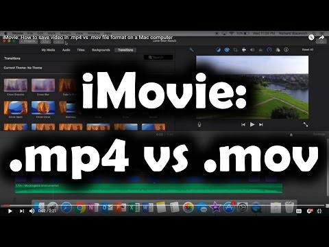 iMovie: How to save video in .mp4 vs .mov file format on an Apple Mac computer (видео)