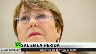 Bachelet advierte que las sanciones contra Venezuela podrían agravar su situación económica