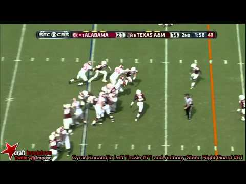 Arie Kouandjio vs Texas A&M 2013 video.