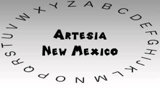 Artesia (NM) United States  City pictures : How to Say or Pronounce USA Cities — Artesia, New Mexico