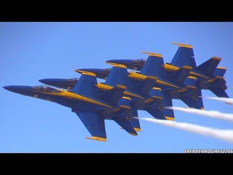 2014 U.S.N. Blue Angels @ LA County Air Show (видео)