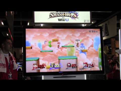 kingdom - http://www.GameXplain.com Watch Mario, Samus, Link, and Villager battle it out on the Mushroom Kingdom U stage in Super Smash Bros Wii U @ Pax 2014! • Follow GameXplain on... ...Facebook:...