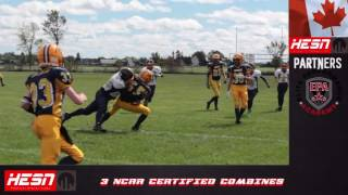 NCAFA 2K16 - PEEWEE - Week 3 Warriors VS West Carleton Wolverines