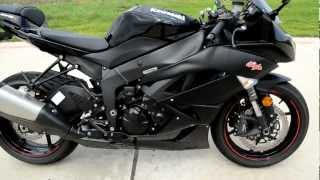 8. 2011 Kawasaki ZX6R Ninja Black Overview Review Walk Around
