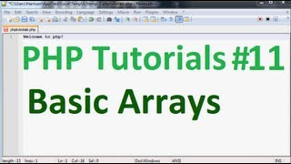 Basic PHP Tutorial 11: Arrays Part 1, Basic Array