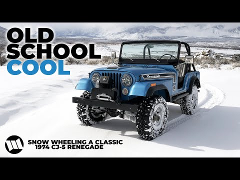 1974 Jeep CJ-5 Renegade SNOW WHEELING in the Winter Doorless and Topless : CALAMITY JANE