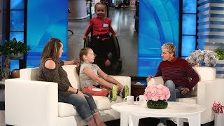 Video Ellen Meets Wildfire Survivor and 9-Year-Old Amputee Lilly Biagini MP3, 3GP, MP4, WEBM, AVI, FLV September 2018
