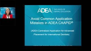 ADEA CAAPID Webinar