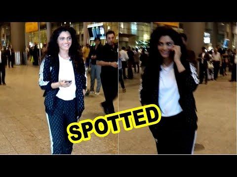 Saiyami Kher Spotted At Mumbai Airport