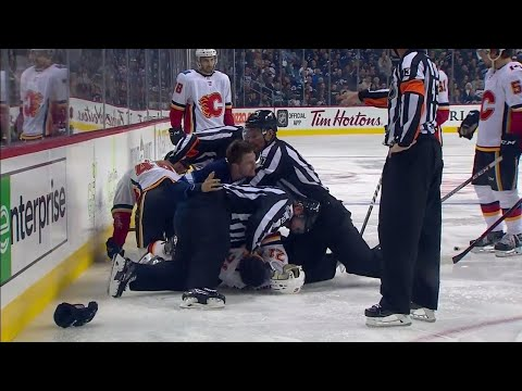 Video: Trouba answers to Hathaway after questionable hit on Hrivik