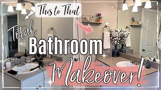 NEW! ROOM MAKEOVER ON A BUDGET :: CLEAN DECLUTTER ORGANIZE :: AFFORDABLE BATHROOM TRANSFORMATION