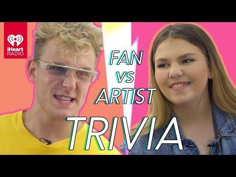 Jake Paul Challenges Super Fan In Trivia Battle | Fan Vs. Artist Trivia (видео)