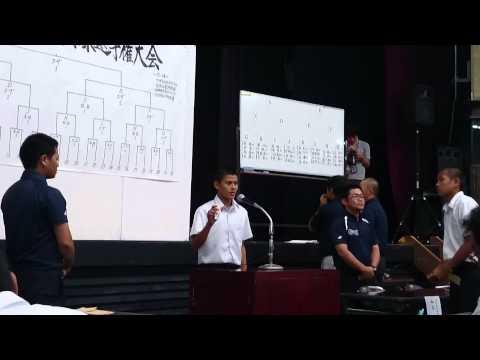 東風平中学校 2015年 県大会 抽選会