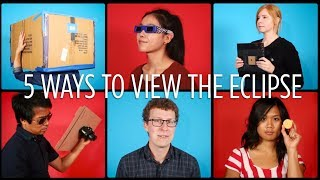 Watching an eclipse? Save your eyeballs -- rig up a sweet viewing set-up with some help from this video. Remember never look...