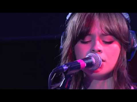 Gabrielle Aplin perform her single Home for Sara Cox in the BBC Radio 1 Live Lounge