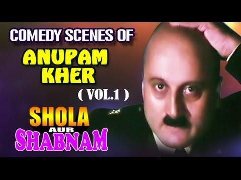 Anupam Kher's  Best Comedy Scenes | Shola Aur Shabnam |  Jukebox 1