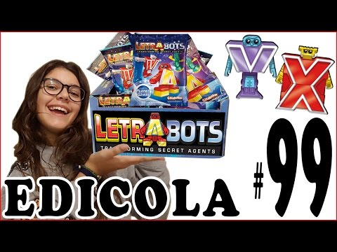 EDICOLA #99: LETRABOTS (Lettere Magiche) Pacco con 16 bustine - Unboxing by Giulia Guerra (видео)