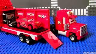 Video Cars 2 Lego Mack's Team Truck 8486 Complete Blocks Assembly Disney Pixar Lightning McQueen MP3, 3GP, MP4, WEBM, AVI, FLV Oktober 2017