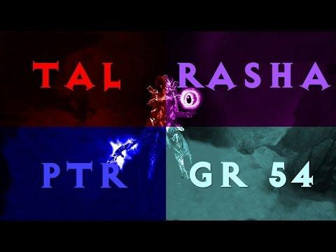 [PTR] Diablo 3 Tal Rasha Wizard GR 54 Solo (new 2.2.0)
