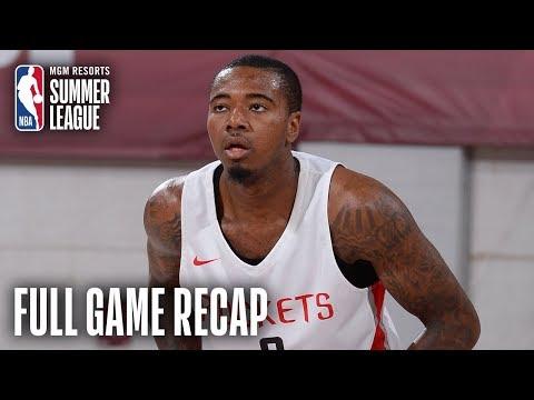 Video: KINGS vs ROCKETS   Houston Edges Out Sacramento   MGM Resorts NBA Summer League