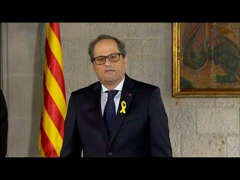 Torra als neuer Regionalpräsident von Katalonien vereidigt