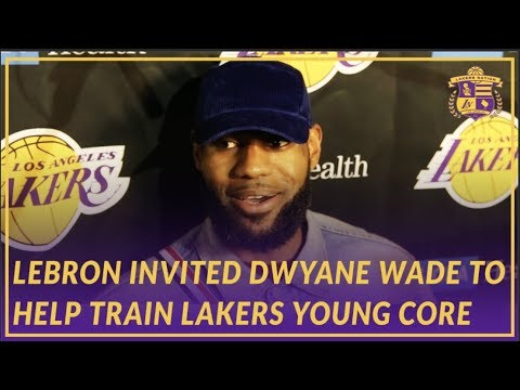 Video: Lakers Post Game: LeBron on Wade's Influence, Inviting Him to Train Young Core