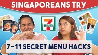 Video Singaporeans Try: 7-11 Secret Menu Hacks MP3, 3GP, MP4, WEBM, AVI, FLV Desember 2018
