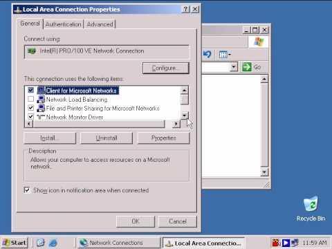 Configuring IP Settings - Windows Server 2003