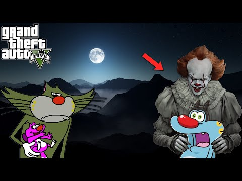 GTA 5 : OGGY Kidnapped By PENNYWISE | GTA 5 PENNYWISE