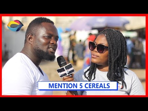 MENTION 5 CEREALS  Street Quiz  Funny Videos  Funny African Videos  African Comedy