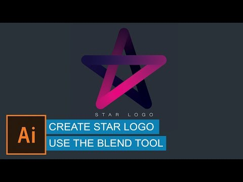 Illustrator Beginner Tutorial | Create Star Logo Use The Blend Tool In Illustrator | Graphic Design