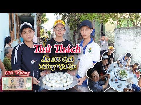 Black - Thử Thách Ăn 100 Quả Trứng Vịt Lộn -  Ăn Thi Nhận Tiền Thưởng Lớn - Thời lượng: 17 phút.