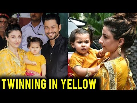 Inaaya Twins With Mom Soha Ali Khan At Arpita Khan