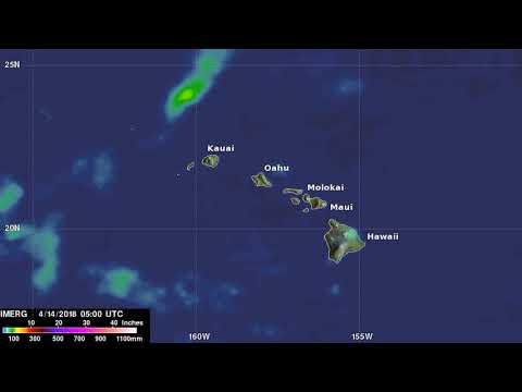 A Week of Heavy Rainfall Over Hawaiian Islands