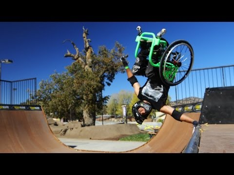 wheelchair - Watch more bonus footage of Wheelz from Gnarly Nutrition in the link below: https://www.facebook.com/GnarlyNutrition/app_427933507304031 We had the amazing o...
