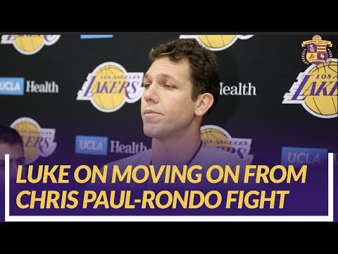 Video: Lakers Nation Interview: Luke Walton On How The Team Will Move Forward From Chris Paul & Rondo Fight