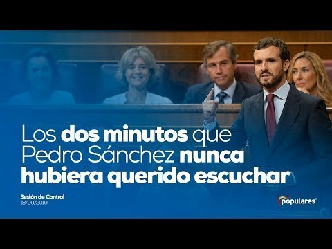 Los dos minutos que Pedro Sánchez nunca hubiera querido escuchar