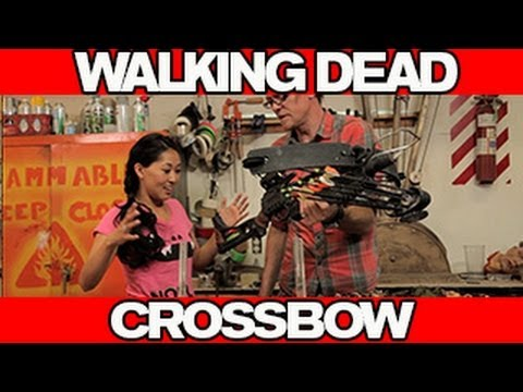 crossbow - Atomic Mari hangs with prop master Jessee Clarkson to build the Crossbow from WALKING DEAD! Subscribe to CINEFIX -- http://goo.gl/9AGRm Master prop maker, Je...