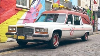 Taking 'Ghostbusters' Ecto-1 for a spirited drive by Roadshow