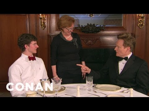 teamcoco - Conan learns the finer points of Dixie etiquette and manners. First lesson: no mashed potato scooping at the table.More CONAN @ http://teamcoco.com/video Tea...
