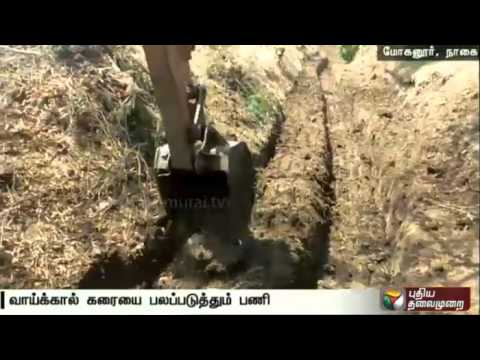 Puthiya-Thalaimurais-Nammal-Mudiyum-team-strengthens-Moganur-canal-in-Nagai
