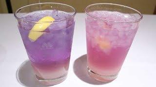 【動画アリ】水色から紫やピンクに変化! モスから摩訶不思議な新製品ドリンク『ラベンダーレモネード』が期間限定登場 混ぜて飲んでみた