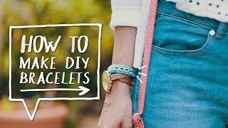 DIY Woven Chain Bracelet Tutorial | How to Make DIY Bracelets - YouTube
