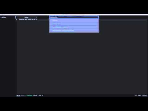 3.2 Atom Editor - Using Atom - New Editor Pane and File