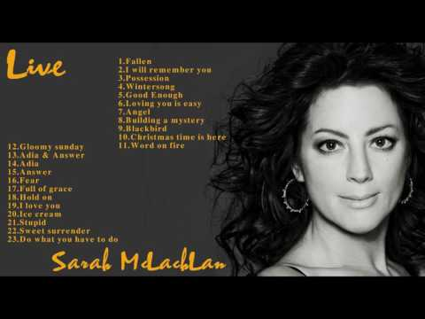 Sarah McLachLan Greatest Hits (Full Live) || Sarah McLachLan Best Songs