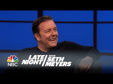 Ricky Gervais Has Beef with Louis CK - Late Night with Seth Meyers