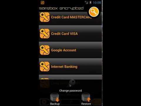 Video of SafeBox password manager