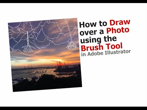 How To Draw Over A Photo With The Brush Tool In Adobe Illustrator CC